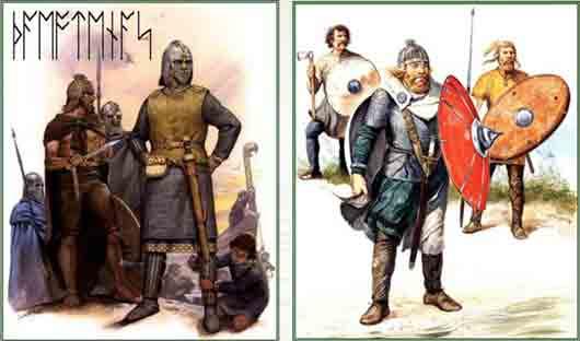 Какое германское племя со временем слилось в единый этнос с саксами