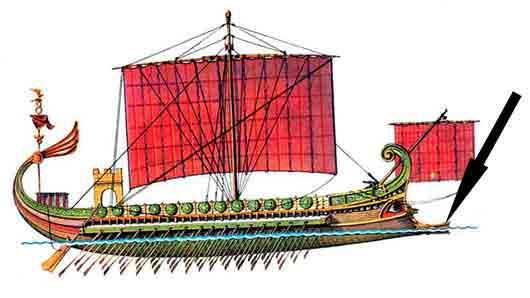 Таран древнеримского судна