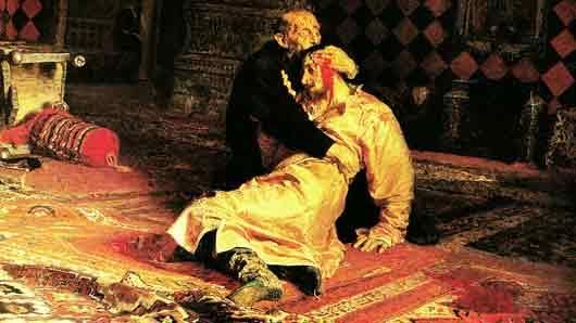Где некий Абрам Балашов 16 января 1913 г. покушался на царя Ивана Грозного и его сына