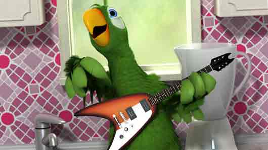 «Говорящий попугай» на телефоне
