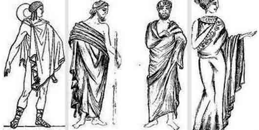 Роскошный плащ у древних греков