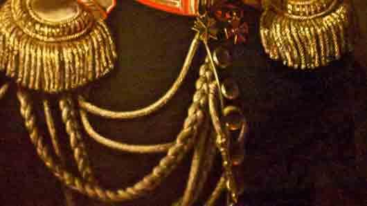 Золотые шнуры на генеральском мундире