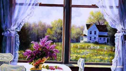 Картина в окне