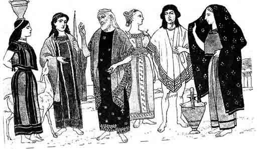 Широкий плащ у древних греков