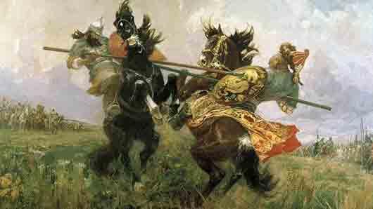 Легендарный яблоневый святого Александра Пересвета, победившего Челубея