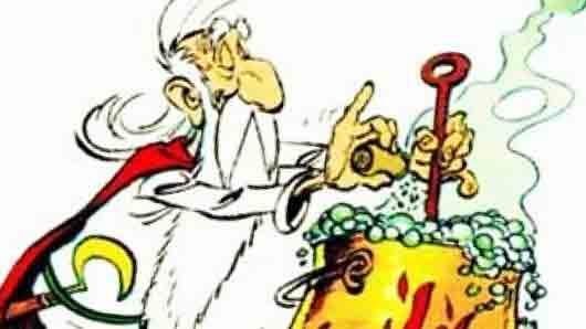Панорамикс из комиксов про забавных галлов Астерикса и Обеликса