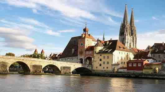 В каком городке расположена «самая северная точка» Дуная