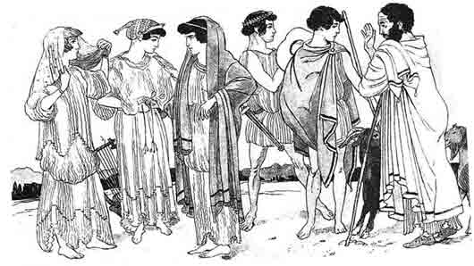 Плащ из Древней Греции