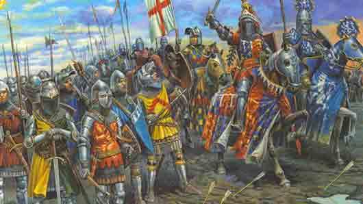 Какого снаряжения не могло быть у рыцаря средневековой Европы