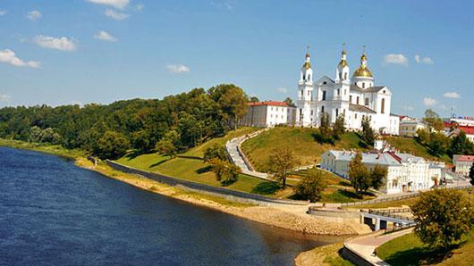 Пристань на реке Западная Двина