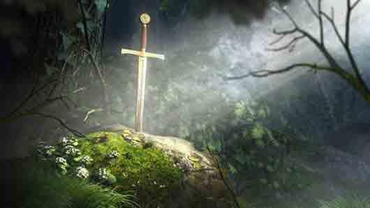 «Разговорчивый меч» из романа «Цвет волшебства» Терри Пратчетта