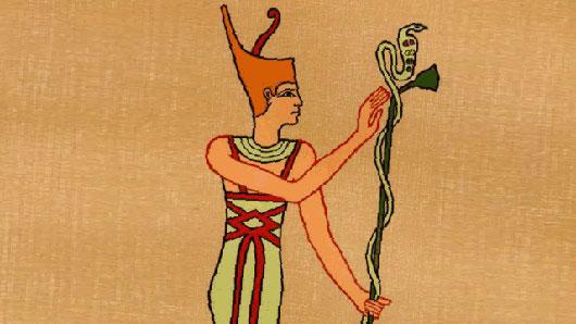 Практически копия Афины у древних египтян