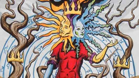 Солнце и луна в образе «сиамских близнецов» у алхимиков