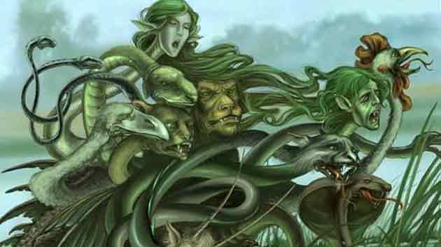 Чудовищная змея, убитая Гераклом