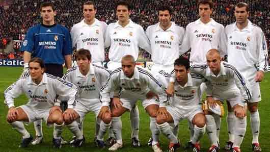 В сезоне 2004/05 за мадридский «Реал» играли сразу четыре обладателя «Золотого мяча». Как окрестили этот квартет звезд