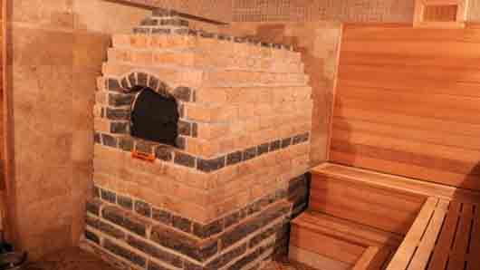 Банная печь с камнями для пара