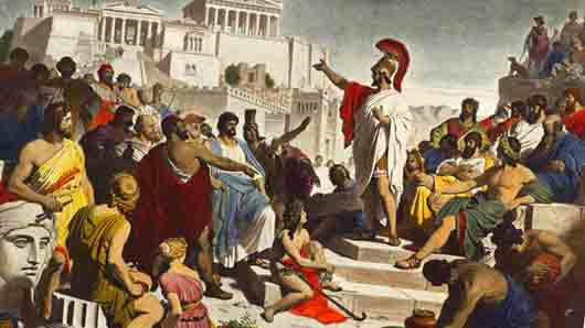 Народное собрание в Спарте