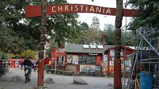 Какая община самовольно основала город Христиания в 1971 году