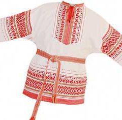 Как называлась подкладка на русской рубахе на спине и груди