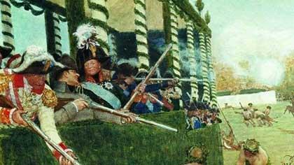 В компании с кем охотится император Александр I на полотне Ильи Репина