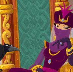 Что скрывает лицо царицы из мультфильма «Три богатыря и Шамаханская царица»