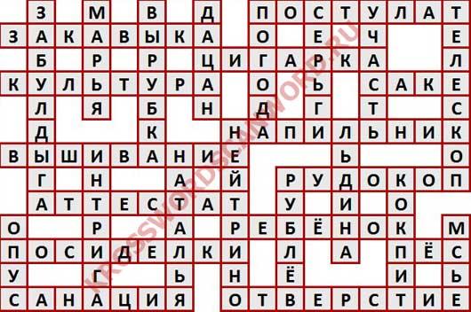Ответы на кроссворд дня из Одноклассников (ОК) номер 17175 (19 12 2017)