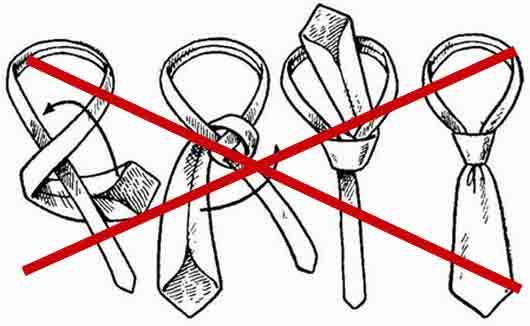 Как называется галстук с фабричным узлом?