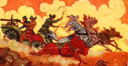 Какой экипаж стал тачанкой в романе «Чапаев и Пустота» у Пелевина