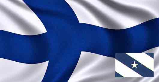 Кто из поэтов придумал цвета для национального флага Финляндии