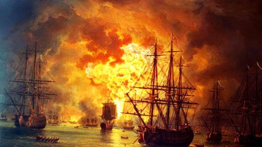 Какой адмирал «уничтожил» турецкий флот в Чесменском сражении