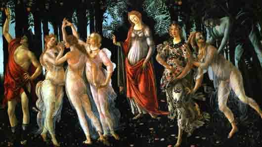 Италийская богиня с культового полотна «Весна» Сандро Боттичелли
