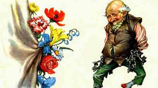 Старик со связкой ключей из сказки «Цветы маленькой Иды» Ханса Андерсена