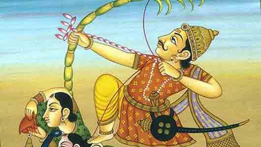 Каждое из насекомых, составляющих тетиву лука индуистского бога любви Камы