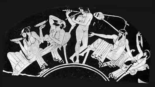 Мальчишник у древних греков