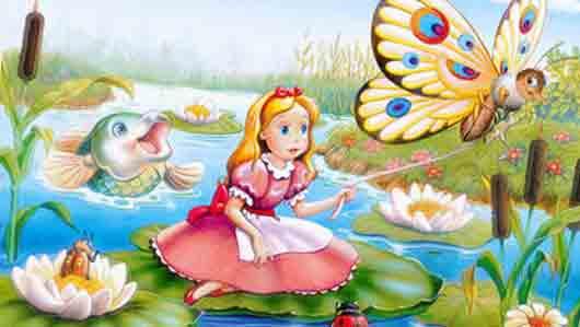 Чьи крылья приделали сказочной Дюймовочке, чтобы она могла перелетать от цветка к цветку