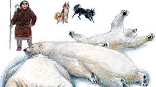 Для какой цели эскимосы в прежние времена использовали китовый ус