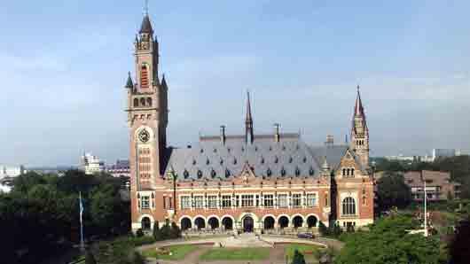 Какой замок в Гааге когда-то стоял на месте нынешнего Дворца мира