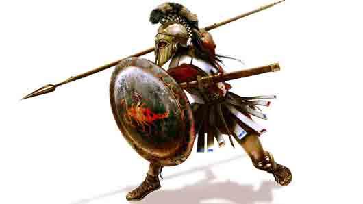 Древнегреческий пехотинец