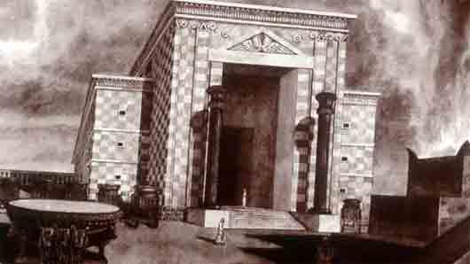 Правый столб в притворе храма Соломона