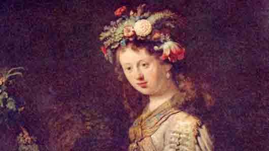 Цветок, попавший на картины великого Рембрандта