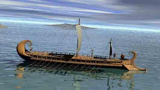 Боевое судно у древних греков