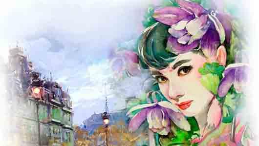 Самая знаменитая цветочница с фиалками на Монмартре