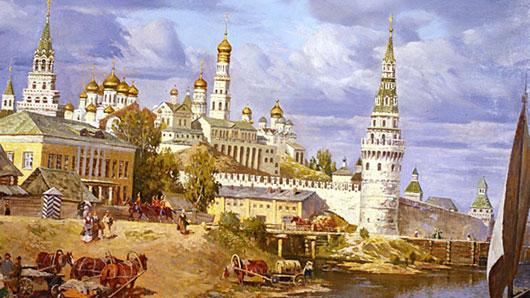 Из какого материала соорудили стены Московского Кремля при Дмитрии Донском