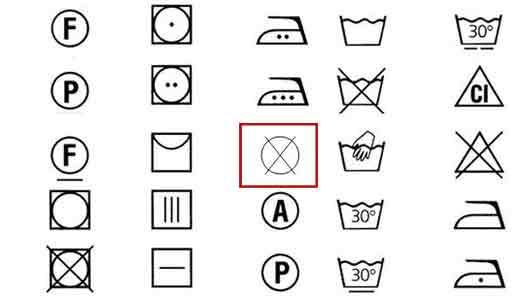 Что запрещает зачеркнутый крестом круг на ярлыке вашего джемпера