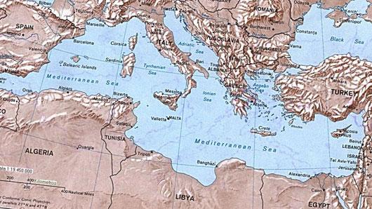 Какое море омывает берега трех частей света