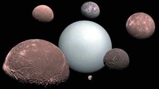 Один из спутников Урана