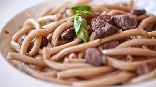 Толстые макароны из Италии
