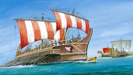 Каждый из кораблей флота Фемистокла