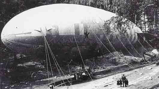 Как назывался дирижабль, построенный в 1924 году
