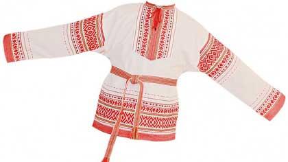 Подкладка на русской рубахе на спине и груди как называлась